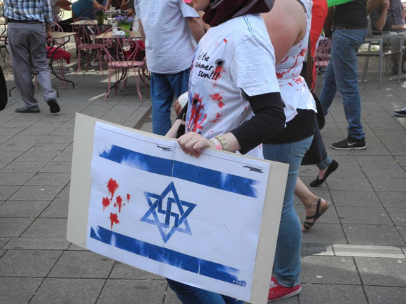 Davidsternhakenkreuz Foto: Antifa Z