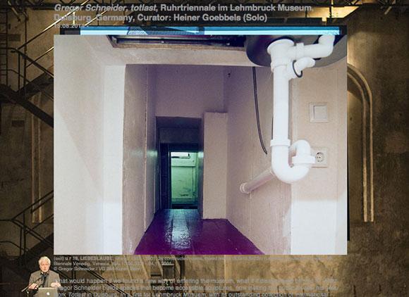 Auf seiner Webseite bewirbt Gregor Schneider noch sein zensiertes Projekt Totlast