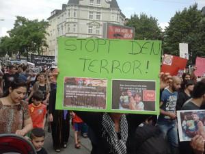 Demonstration gegen IS am Dienstag in Dortmund.
