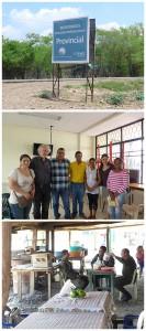 Bild oben: Eingang zum Gebiet der Wayúu Bild mitte: Vertreter der Wayúu Bild unten: Nichts geht ohne Polizeischutz