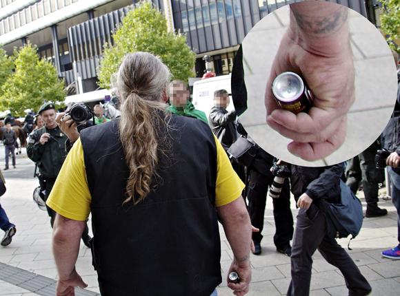 Bewaffneter Naziangriff auf Journalisten mit Pfefferspray
