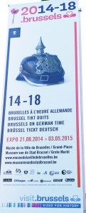 Plakat zu WK-I-Ausstellung in Brüssel (Foto: J. Klute)