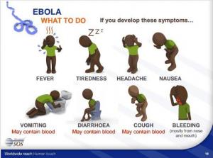 Mit solchen Piktogrammen wird die Aufklärung über das tödliche Virus probiert. (Foto: Screenshot bei http://femmelounge.ng/how-not-to-catch-ebola-a-pictorial-guide/)