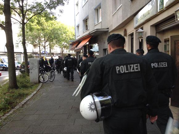Das wars: Die Polizei zieht ab