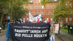 September 2014 in Duisburg-Neumühl: Demo gegen Softnazis und Anwohner