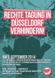 """Nach der Verlegung, nicht mehr aktuelles Plakat gegen den """"Zwischentag"""""""