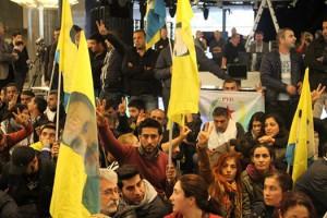 Brüssel, 08.10.2014: kurdische Demonstranten im Europäischen Parlament | Foto: Pablo Eekman