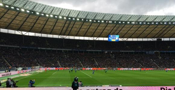Das Berliner Olympiastadion in der Gegenwart. Foto: Michael Kamps