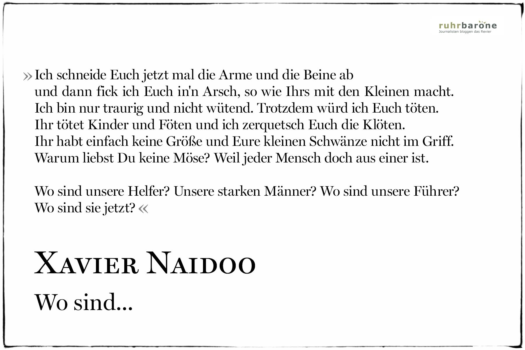 Xavier Naidoo Zitate