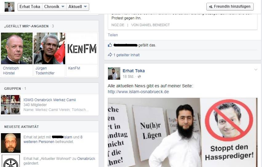 Aktueller Screenshot vom Tokas Facebook-Profil