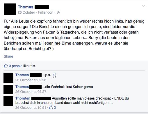 Thomas und sein Facebookprofil.