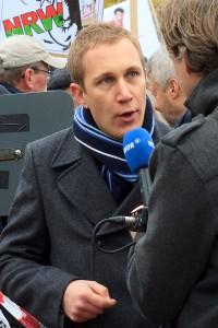 Daniel Zimmermann, Bürgermeister von Monheim am Rhein (Partei Peto), Quelle: 2013, Solches - Wikipedia
