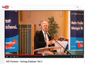 AfD-Veramstaltung: Redner Jürgen Elsässer, Screenshot YouTube Video