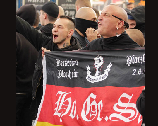 HoGeSa-Hooligan, Foto: Copyright 2014 Felix Huesmann