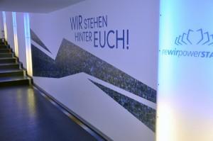 Der neue Spielertunnel beim VfL. Foto: VfL Bochum
