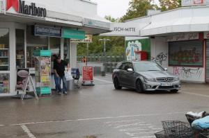 Beliebtes Nadelöhr zum Abfangen: Die U-Bahn-Station Tannenbusch Mitte.