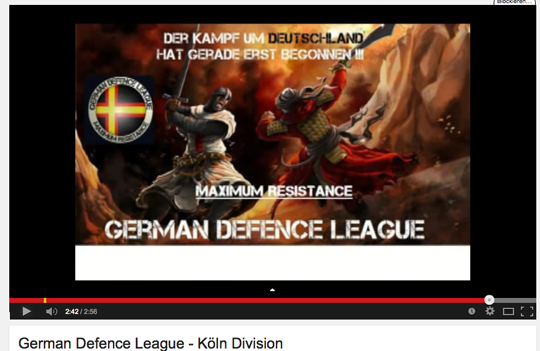 German Defense League, Screenshot Youtube