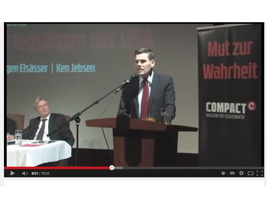 Ken Jebsen zu Gast bei Jürgen Elsässer, Compact TV, Screenshot YouTube