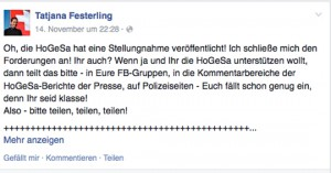 HoGeSa-Fan Tajana Festerling (AfD)