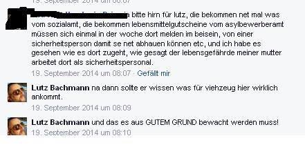 """Asylbewerbert sind """"Viehzeug"""" für den besorgten Bürger Lutz Bachmann (Quelle:  Anonymous News Germany)"""