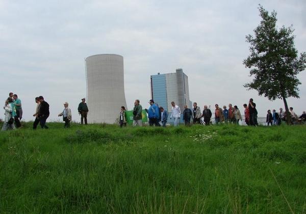 Demo am Kraftwerk in Datteln. Foto: Brigitte Patzwaldt