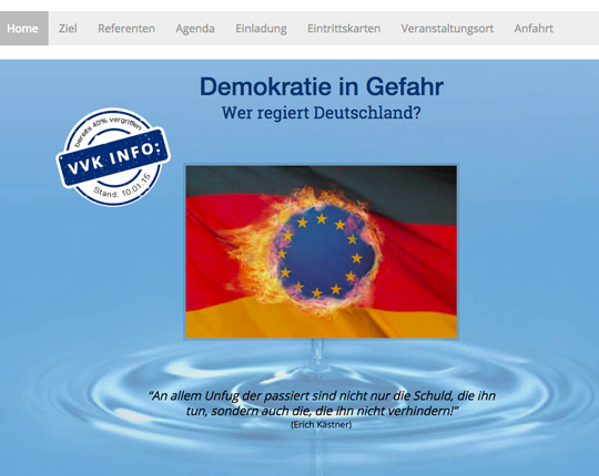 1. Wissenkongress in Witten, Screenshot der Website