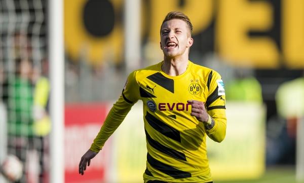 Wird Marco Reus auch am Samstag wieder jubeln? Foto: BVB