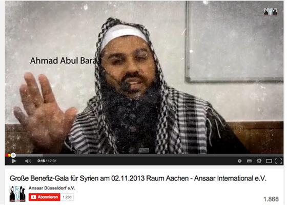 Abdul Abul Baraa: Werbebotschaft für Ansaar Internationa e.V., Screenshot