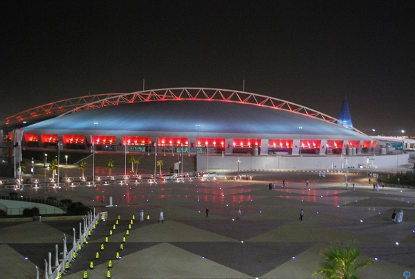 Das Stadion in Doha. Quelle: Wikipedia, Foto: daly3d abd, Lizenz: CC BY 2.0