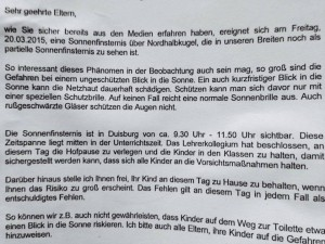 Angst geht um in Duisburg. (Foto: Facebook)