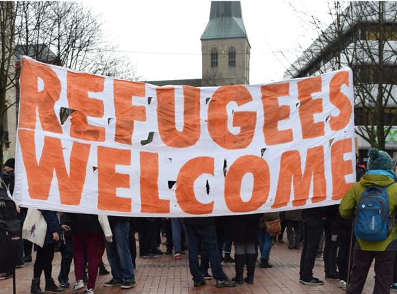 Refugess welcome, Foto: Ulrike Märkel
