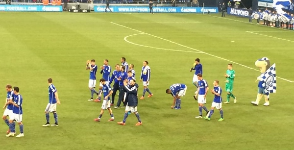 Kann Schalke zukünftig wieder häufiger so ausgelassen feiern? Foto: Michael Kamps