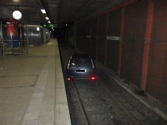 Der übt noch... Foto: Polizei Dortmund