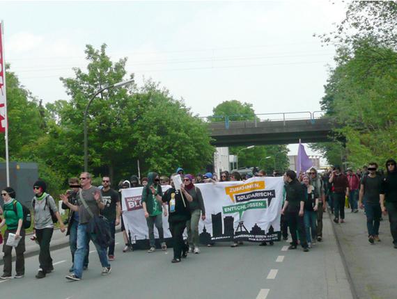 BlockaDO demonstriert gegen Rechts, Foto: 2014 Ulrike Märkel