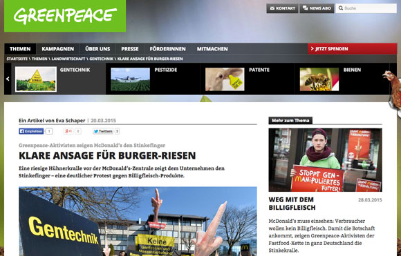 Hysterie made by Greenpeace: Foto: Screenshot
