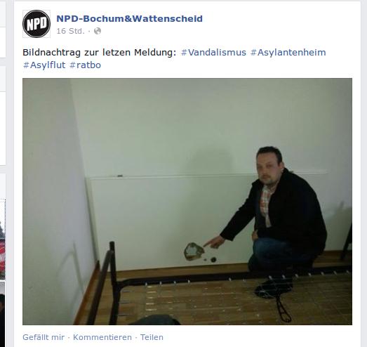 Facebook-Screenshot der NPD Aktion.