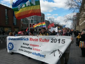 same procedure as every year: Ostermarsch Ruhr in Duisburg