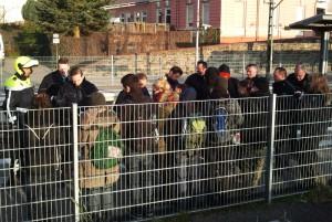 Polizeikontrolle am Bahnsteig Essen-Werden