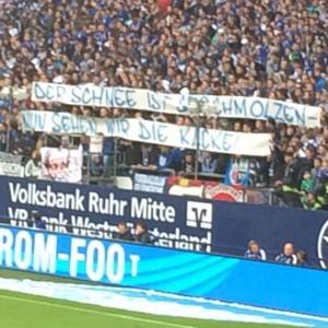 Schlechte Stimmung auf Schalke heute. Foto: Michael Kamps