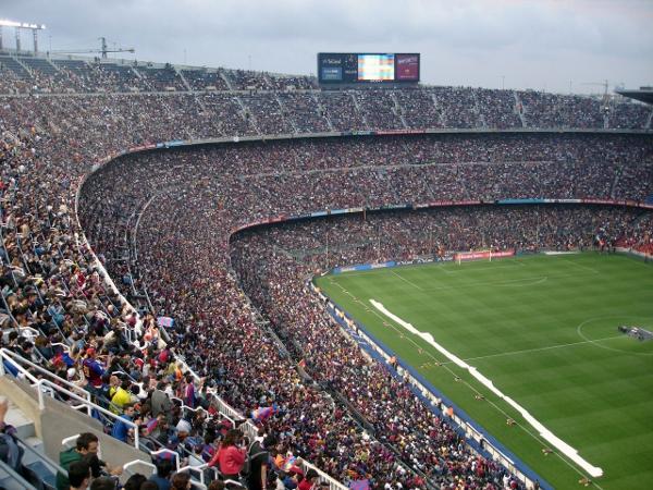Das Stadion in Barcelona. Quelle: Wikipedia, Lizenz: gemeinfrei