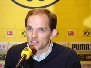 Der neue BVB-Trainer Thomas Tuchel kommt mit seinem Team nach Bochum. Foto: Robin Patzwaldt