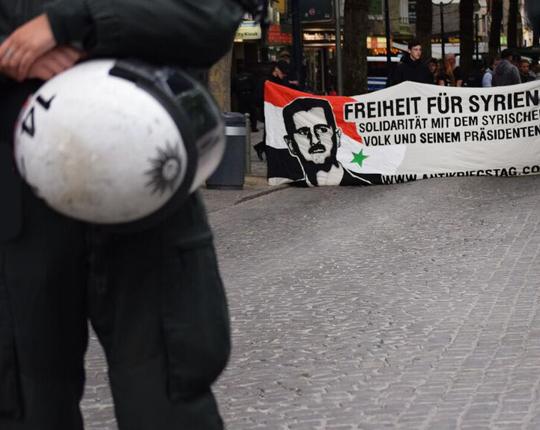 Pro-Assad Nazidemo in Dortmund, Foto: Ulrike Märkel