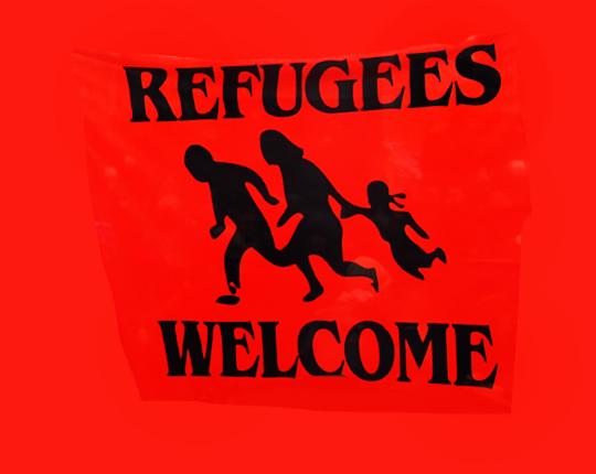 Flüchtlinge willkommen, Foto: Ulrike Märkel 2015