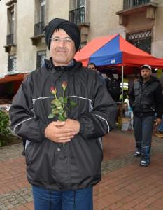 Rosen für die syrischen Flüchtlinge