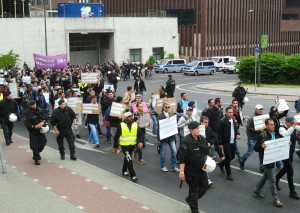 Demonstration von Geflüchteten in Dortmund am 16.06.2015
