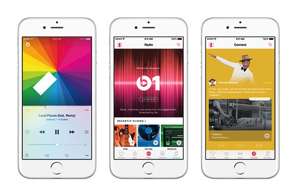 Smartphone-Ansichten der Apple Music App - Quelle: Apple