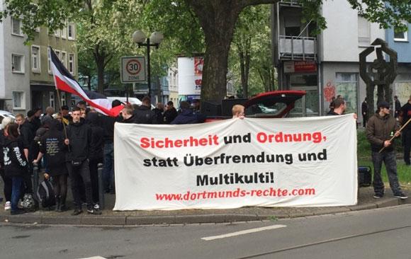 Nazis-Demonstration gegen Kriminalität in Dortmund