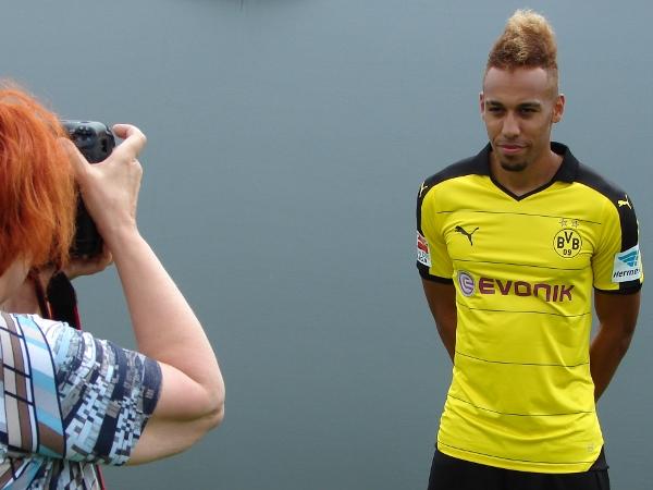 Pierre-Emerick Aubameyang steht beim BVB aktuell im Blickpunkt. Foto: Robin Patzwaldt