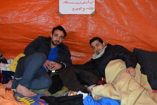 Syrisches Protestcamp, Foto: Ulrike Märkel 2015