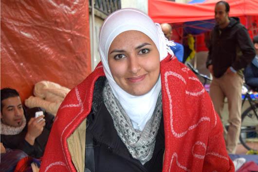 Studentin Yara im Protestcamp, Foto: Ulrike Märkel 2015